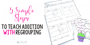 Addition With Regrouping Header with Worksheet