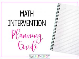 Math Intervention Planning Guide