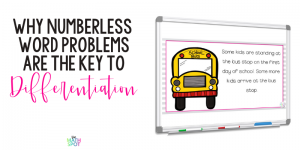 Blog Header Numberless Word Problems Are the Key To Differentiation