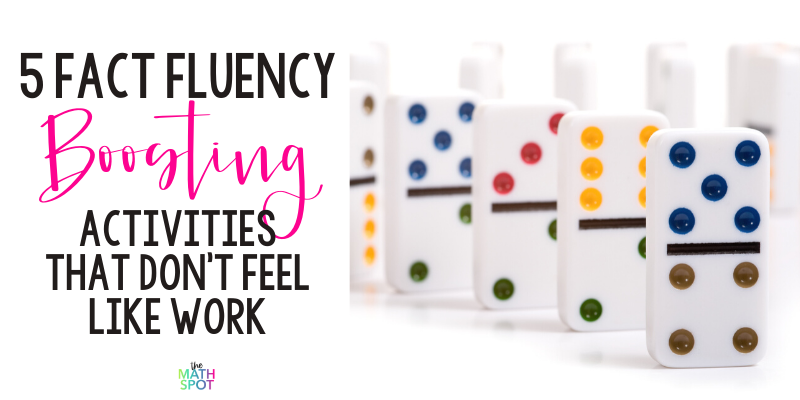 Fact Fluency Activities Blog Header