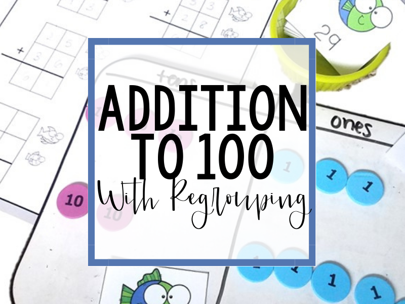 Addition to 100 With Regrouping Header