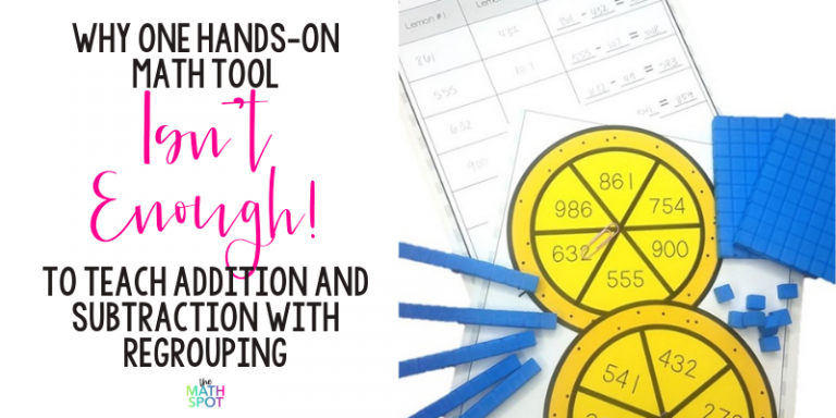 Addition and Subtraction With Regrouping Tools Header