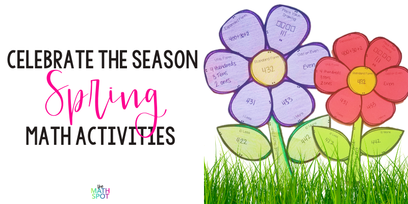 Spring Math Activities Blog Header