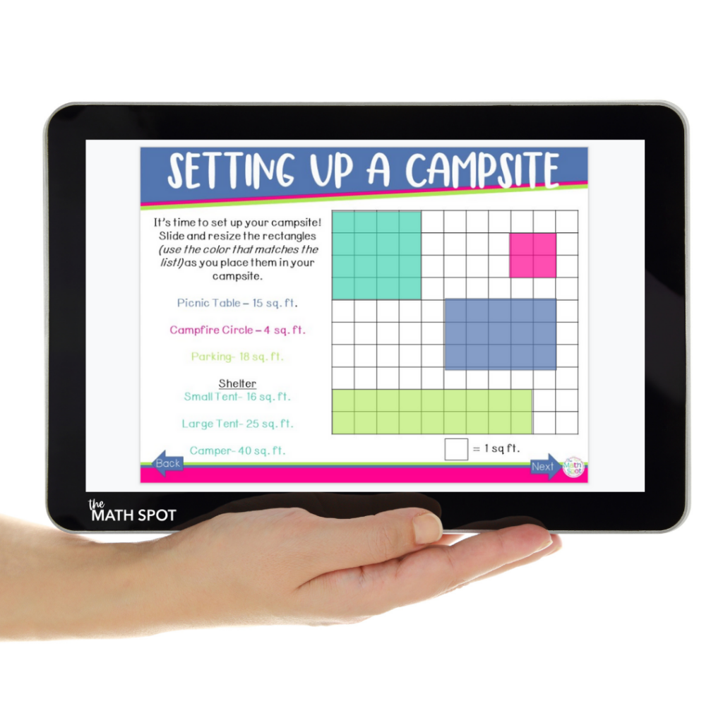 Area Activity on a Tablet