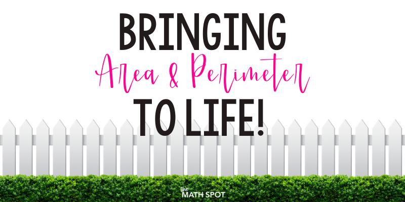 Area and Perimeter Activities Blog Header