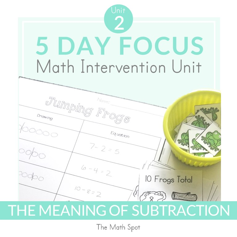 How to Teach Subtraction Math Intervention Resource Cover