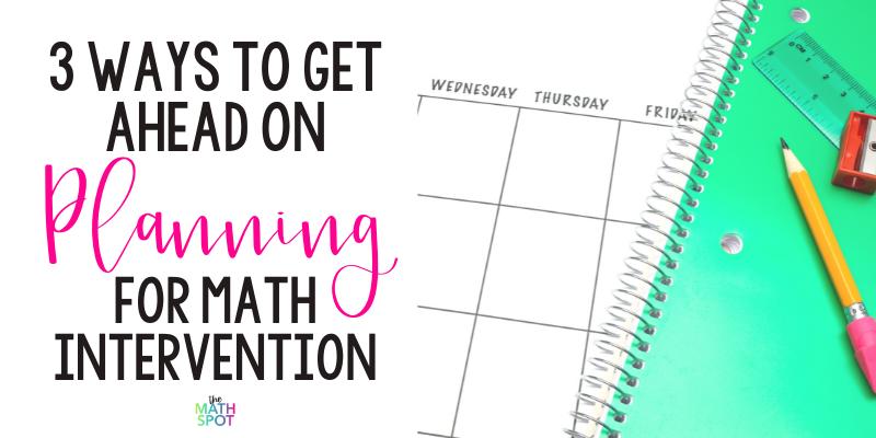 Math Intervention Plan Blog Header